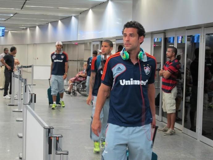 Fred, desembarque do Fluminense (Foto: Richard Souza)