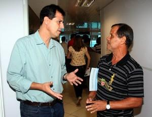 Marcelo Villa-Forte, presidente da Desportiva Capixaba, e Robson Santana, presidente da Desportiva Ferroviária (Foto: Divulgação/Pauta Livre)