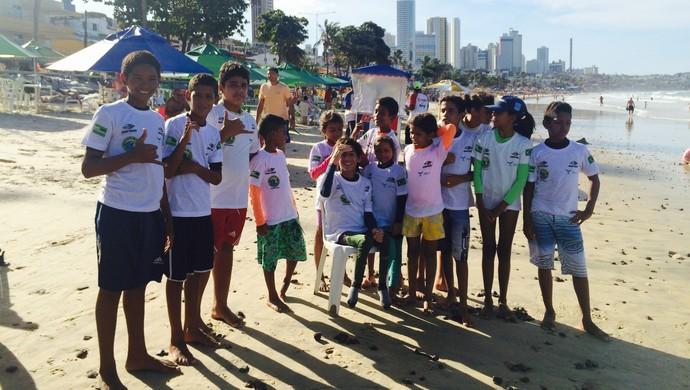 Leonardo de Deus - Ponta Negra - Crianças (Foto: Luiz Henrique/GloboEsporte.com)