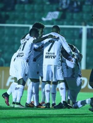 Jogadores do Atlético-MG comemoram o gol de Fred (Foto: Bruno Cantini / Atlético-MG)
