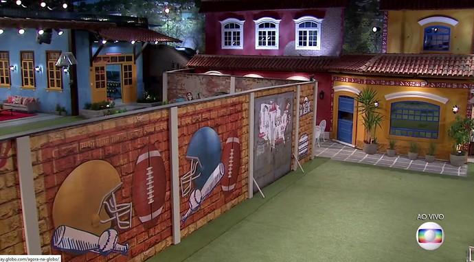 O lado americano da casa do BBB17 (Foto: TV Globo)