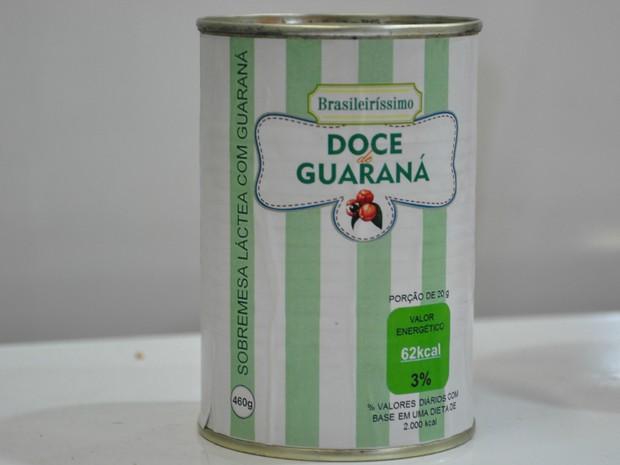 Doce de guaraná foi apresentado em feira (Foto: Carlos Palmeira/ G1)