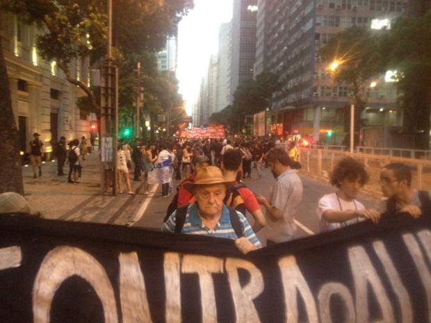 José Maria galiace de Oliveira, ativista de 85 anos (Foto: Daniel Silveira/G1)