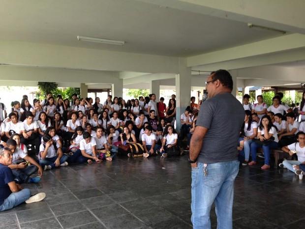 Escola de Aplicação da UFPA é ocupada por estudantes em protesto, em Belém (Foto: Reprodução/Facebook/Ocupa EAUfpa - NPI)