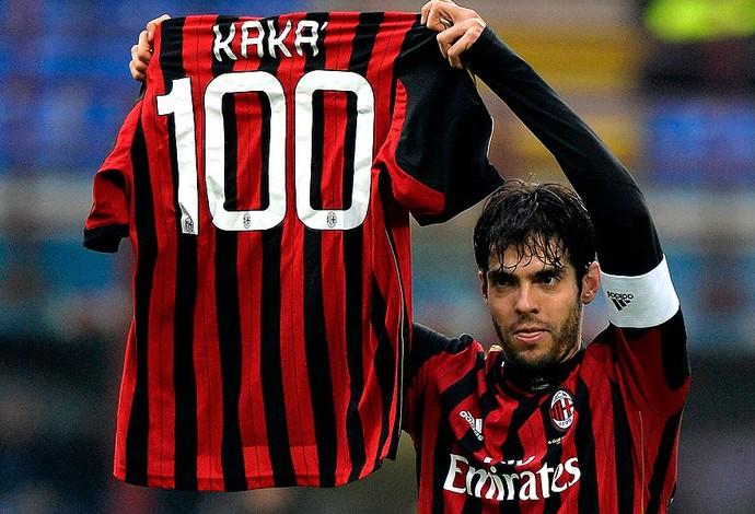 Kaká milan com a camisa 100  (Foto: Agência Reuters)