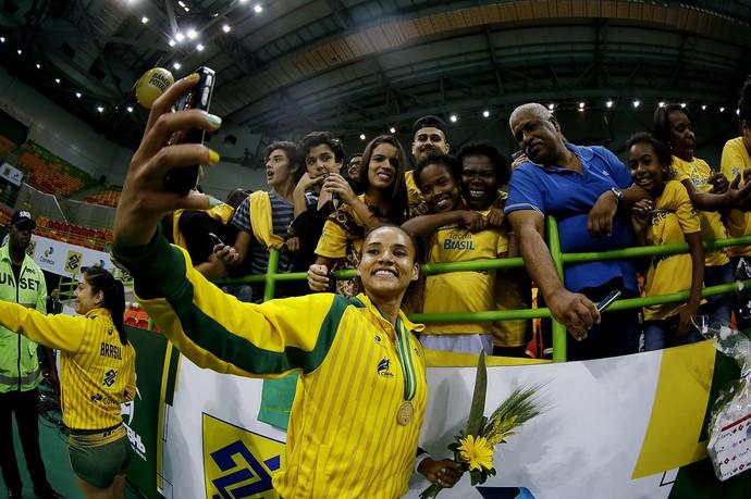 Brasil x Suíça, amistoso, handebol, Arena do Futuro (Foto: Alexandre Loureiro/Inovafoto)