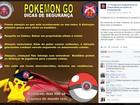 Post da PM faz alerta sobre assaltos para usuários de Pokémon Go na BA