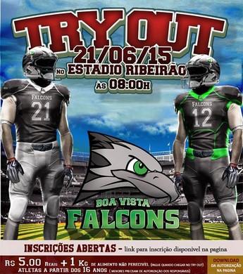Primeira seletiva do Boa Vista Falcons visa a busca de atletas para a equipe (Foto: Reprodução/Facebook)