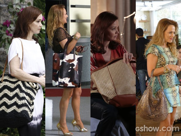 As bolsas grandes são as queridinhas de Shirley e Helena (Foto: Em Familia/TVGlobo)