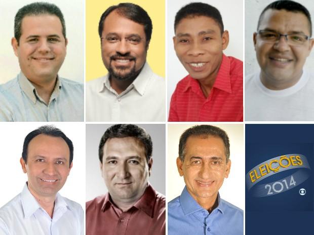 Os sete candidatos ao governo do Amapá (Foto: Divulgação)