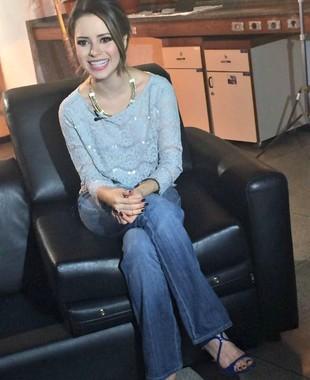 Cantora Sandy euatleta (Foto: Marcelo Prata/TV Globo)