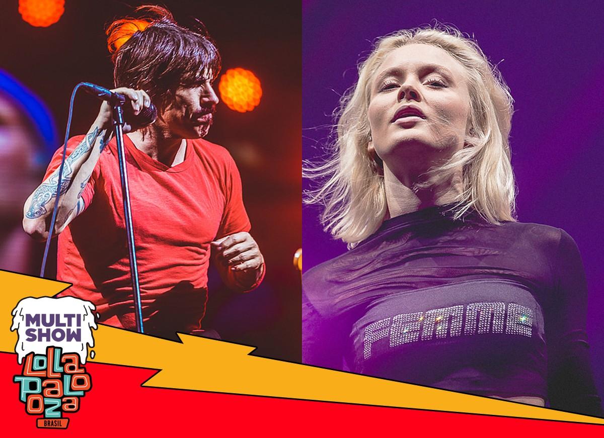 Red Hot Chili Peppers e Zara Larsson foram alguns dos destaques do primeiro dia de Lollapalooza 2018 (Foto: Divulgao/Multishow)