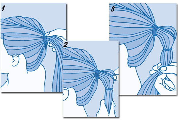 Veja como fazer o rabo de cavalo com gominhos (Foto: Peters e Zabransky)