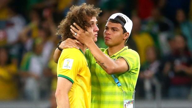 David Luiz e Thiago Silva derrota Brasil x Alemanha (Foto: Getty Images)