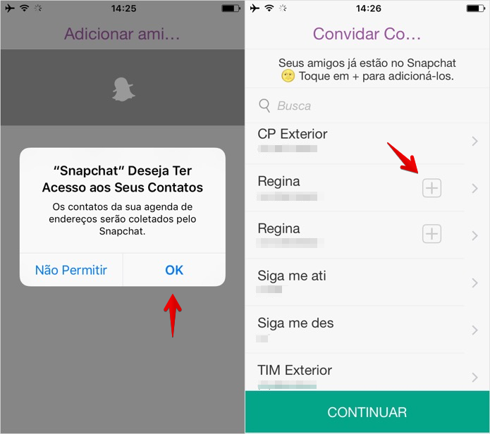 Adición de amigos en Snapchat (Foto: Reproducción / Helito Bijora) (Foto: añadir amigos en Snapchat (Foto: Reproducción / Helito Bijora))
