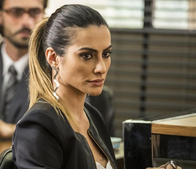 Parecer do magistrado deixa Tamara chocada (Foto: Inácio Moraes/Gshow)