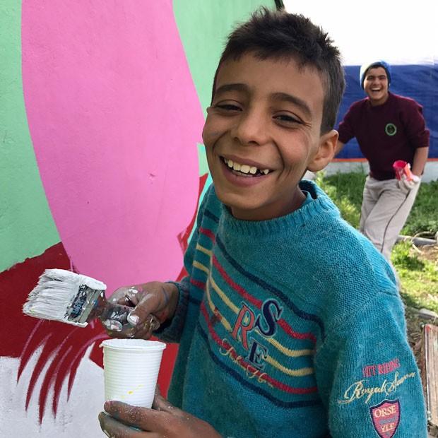 Artistas brasileiros levam arte aos refugiados no Líbano (Foto: Divulgação)