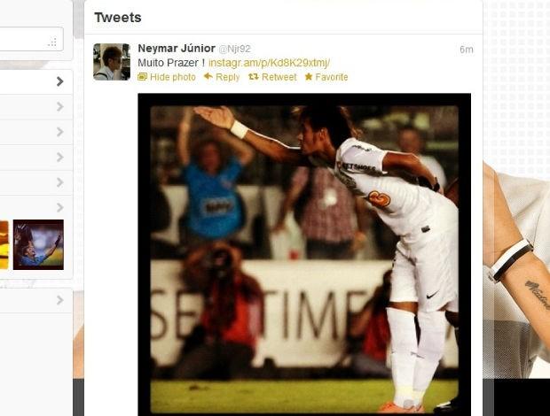 Neymar ironiza técnico do Bolívar no Twitter (Foto: Reprodução / Twitter)