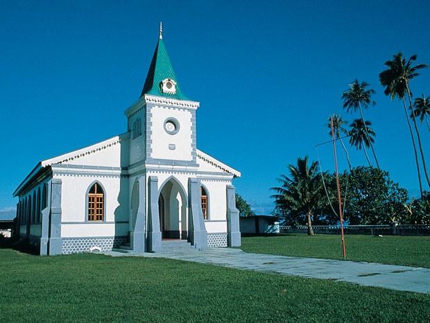 Igreja na ilha de Moorea, na Polinésia Francesa (Foto: Tahiti Tourism/Divulgação)
