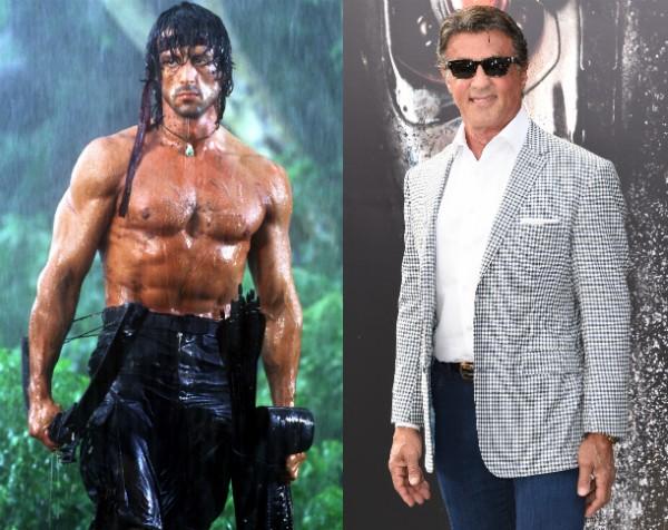 Hoje com 69 anos, Sylvester Stallone tinha 36 no primeiro 'Rambo' (Foto: Getty Images/Divulgação)