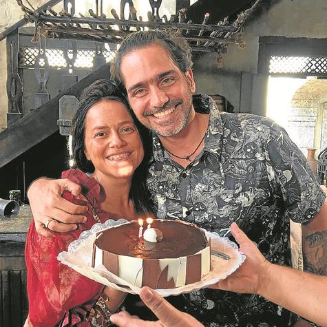 Vivianne Pasmanter e Vinícius Coimbra, diretor de 'Novo Mundo' (Foto: Arquivo pessoal)