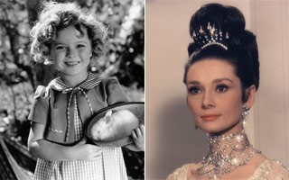 Shirley Temple e Audrey Hepburn serviram de inspiração para a loirinha (Foto: Divulgação / Reprodução)