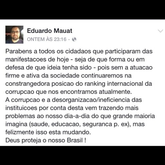 Eduardo Mauat (Foto: Reprodução Facebook )