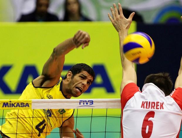 vôlei wallace brasil polônia liga mundial (Foto: Wander Roberto / Vipcomm)