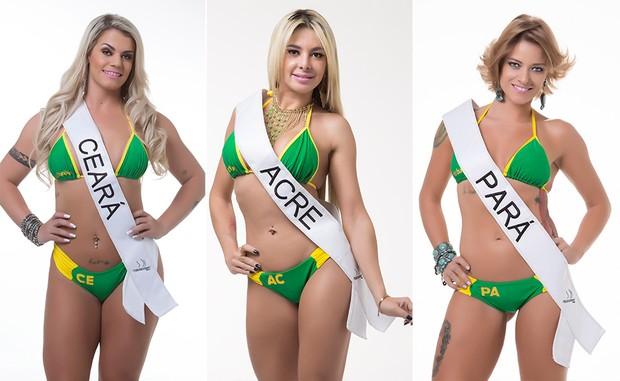 Laura Biral, Miss Bumbum Ceará / Diana Andrade, Miss Bumbum Acre / Berta Souza, Miss Bumbum Pará (Foto: MBB / Divulgação)