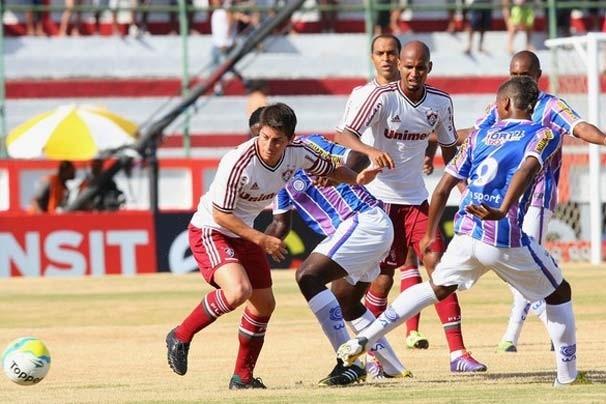 O Fluminense perdeu para o Madureira na estreia do Cariocão (Foto: Reprodução/globoesporte.com)