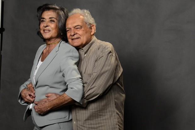 Beth Faria e Othon Bastos (Foto: Roberto Teixeira/ EGO)