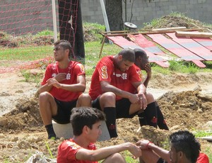 Adriano flamengo treino (Foto: Richard Souza / Globoesporte.com)
