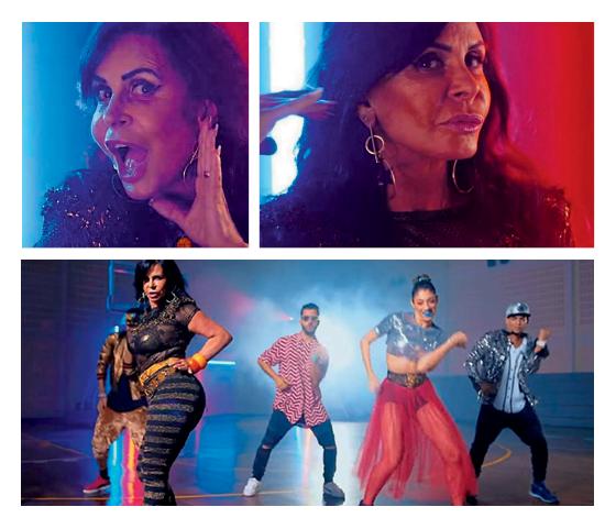 """Cenas do clipe """"Swish Swish"""" de Katy Perry (Foto: reprodução)"""