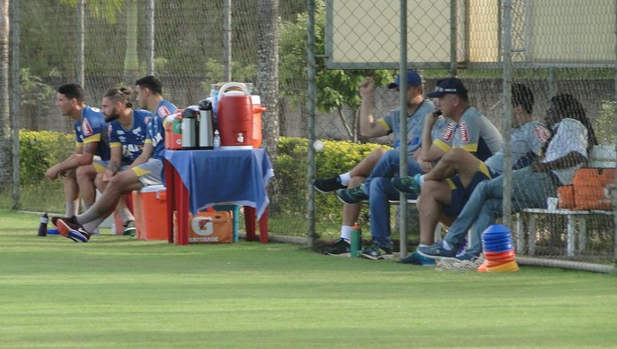 Cruzeiro; treino; Toca da Raposa; Rafael Sobis; Thiago Neves (Foto: Thaynara Amaral)