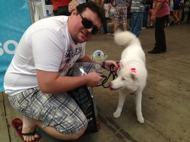 Kyra estreiou no Estimacão com vitória na categoria cão mais exótico (Foto: Mayara Corrêa/G1)