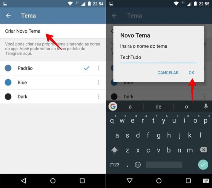 Criando um novo tema para o Telegram (Foto: Reprodução/Helito Bijora)