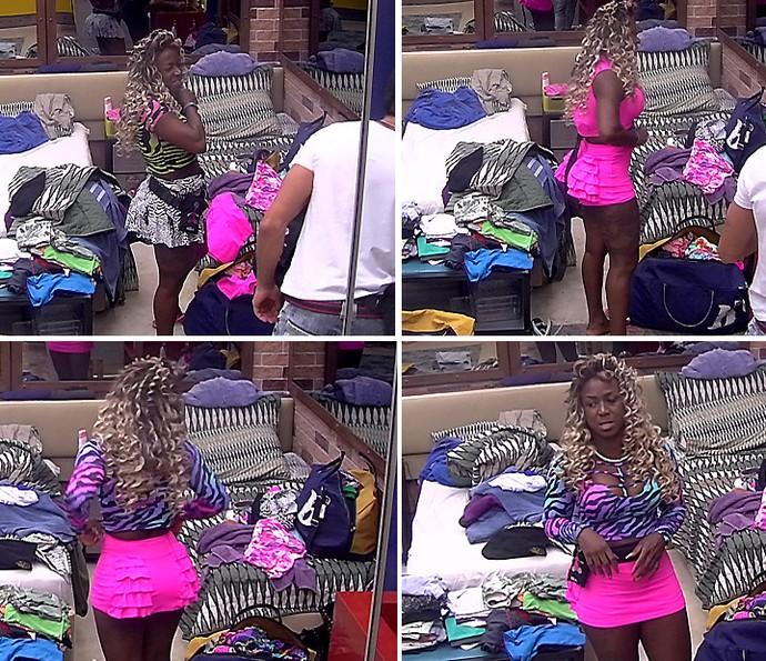 Adelia troca de roupa Tarde casa 28_01 (Foto: TV Globo)