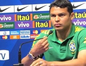 Thiago Silva, Coletiva Brasil (Foto: Richard Souza )