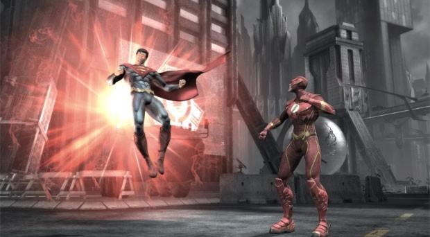 Game 'Injustice: Gods Among Us' traz Super-Homem e Flash (Foto: Divulgação)