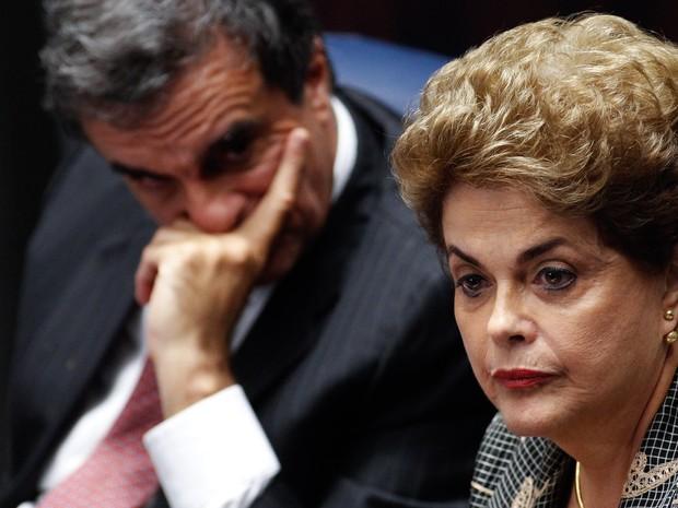 29/8 - A presidente afastada Dilma Rousseff durante sua defesa no julgamento do impeachment no plenário do Senado Federal, em Brasília (Foto: Marri Nogueira/Agência Senado)