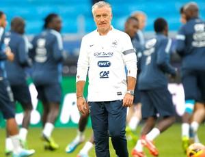 Deschamps, treino Flamengo (Foto: Agência AP)