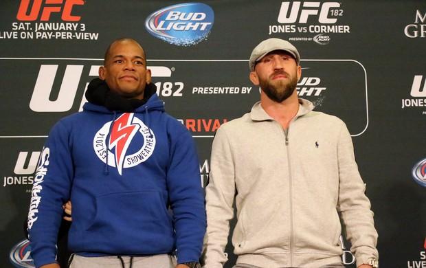Encarada Hector Lombard e Josh Burkman UFC (Foto: Evelyn Rodrigues)