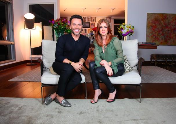 Mister V entrevista a atriz Marina Ruy Barbosa. (Foto: Divulgação)