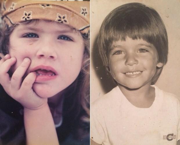 Giovanna Ewbank e Bruno Gagliasso: muita fofura na infância! (Foto: Arquivo Pessoal)