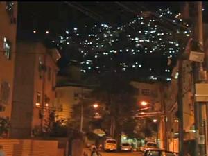 Morro Dona Marta, em Botafogo, recebeu a primeira UPP do Rio, em 2008 (Foto: Reprodução / Globo)