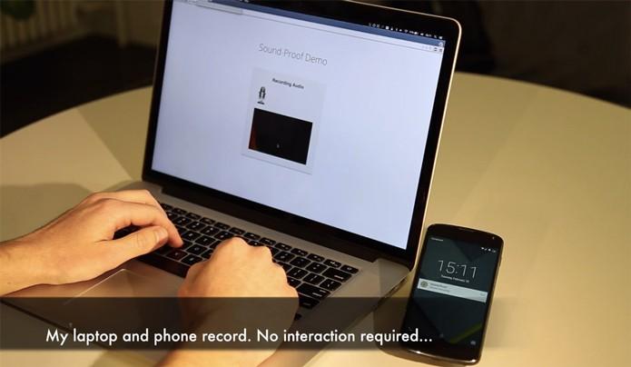 Sistema usa sons do ambiente para identificar se computador e celular estão no mesmo lugar, o que confere legitimidade a uma tentativa de login (Foto: Divulgação/SoundProof)