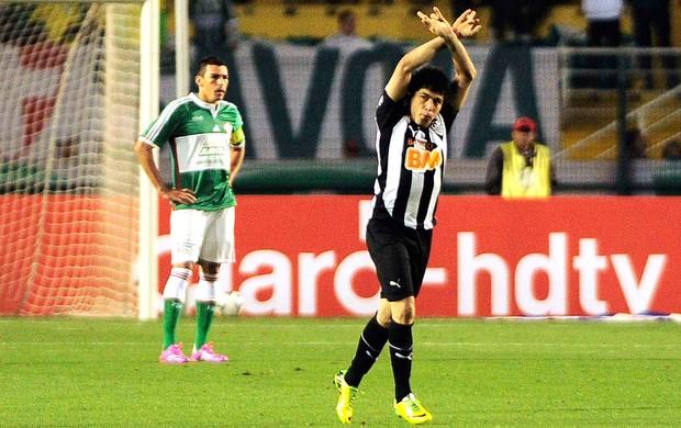 Luan gol Palmeiras x Atlético-MG (Foto: Marcos Ribolli / Globoesporte.com)