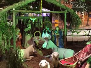 Presépio em Muriaé, no Natal de 2014 (Foto: Prefeitura de Muriaé/Divulgação)
