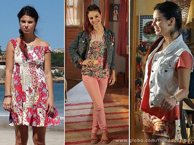 Amaralina e seu estilo de quem viajou pelo mundo (Foto: Flor do Caribe / TV Globo)