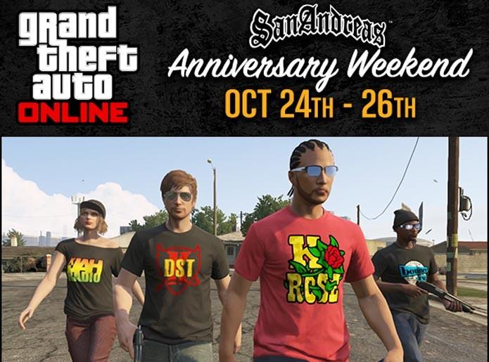 GTA Online tem oferta para os 10 anos de San Andreas (Foto: Divulgação)